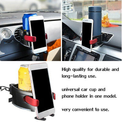 Car Cup Stand Cup Holder 2 in 1 Phone Holder Drinks Holders Water Cup