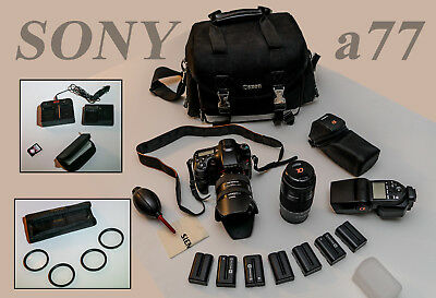 SONY Alpha SLT-A77 24.3MP Digital SLR Camera Collection With Many Extras!!!!!!