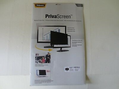 "Fellowes PrivaScreen Privacy Filter 22"" Widescreen LCD Monitor Desktop Screen"