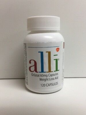 (New) Alli Orlistat Weight Loss Aid - 60 mg - 120 Capsules Refill Pack - No Box