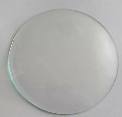 "Round 8"" Replacement Clock Barometer Frame Gauge Convex Glass w/ Polished Edge"