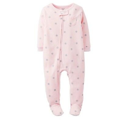 Carter s Toddler Girl Silver Polkadots Footed Blanket Sleeper Fleece  Pajamas 4T 61031a204