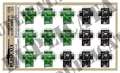Diorama/Model Accessory - 1/35 Imported Beer, 24 Can Boxes #3