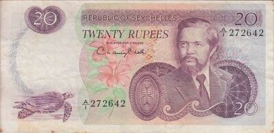 Seychelles Banknote P20 20 Rupees, F