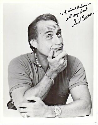 Sid Caesar Grease Autograph Hand Signed 8x10 Photo