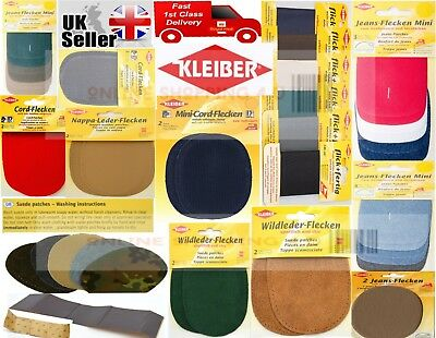 2 pe Brown Kleiber Sew-on Nappa Leather elbow and knee patches 12.5 cm x 10 cm