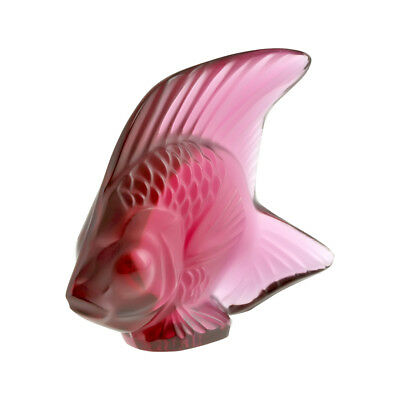Lalique Crystal Fish Golden Red 30031