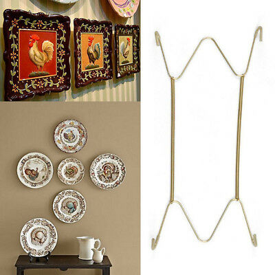 "W-Type Hook 8"" to 16""Inchs Wall Display Plate Dish Hangers Holder For Home Decor"