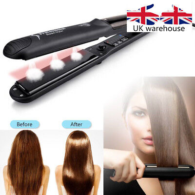 Professional 450F Steam Styler Vapor Argan Ceramic Flat Iron Hair Straightener