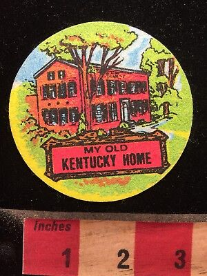 My Old Kentucky Home Patch (barely even like a Patch -Stiff & Cheaply Made) 69NN