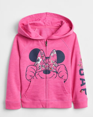 62f5e829d Baby Gap Toddler Girl Hoodie Sweatshirt 4T/4 Years Msrp $39.95 Minnie Mouse  Pink