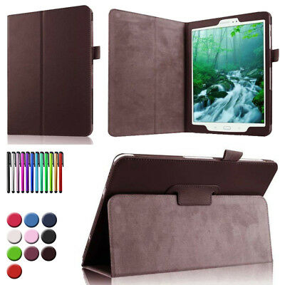 """For Samsung Galaxy Tab 3 4 7.0"""" 8.0"""" 10.1"""" Tablet Folio Leather Stand"""
