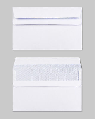 High Quality White Self Seal Plain Envelopes C6 80gsm Strong Paper