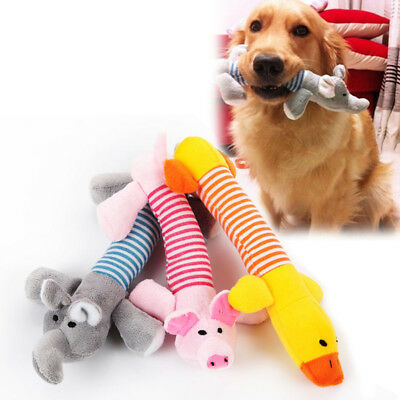 Cute Pet Dog Toys Puppy Chew Squeaker Squeaky Plush Sound Pig Elephant Duck Toys