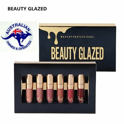 BEAUTY GLAZED 6 Colors/Set  Liquid Lipstick Lip Gloss Matt Kit - Brand New