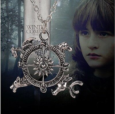 Game of Thrones Necklace Theme Crest Pendant Compass Stark Dire Hot Selling