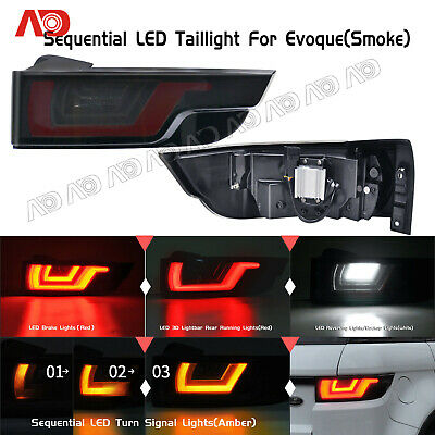 For Range Rover Evoque 2012-2018 SMOKED LED Rear TailLights Brake Light Lamp 2PC