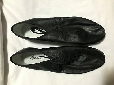 Ladies size 10 ANNARA BLACK Leather   Jazz Dance Shoes Lace ups New