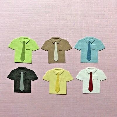 6 Shirt And Tie Embellishments Die Cuts  Scrapbooking Dad Father's Day Work