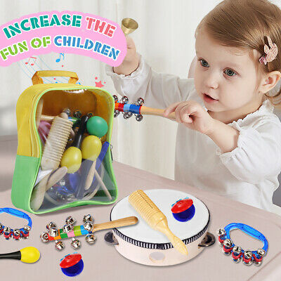 15Pcs Toddler Music Instrument Set for Kids & Baby Percussion Toys Band Rhythm
