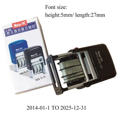 Mini Date Stamp Self-Inking Rubber Stamp Stationery Business Office Supplies NEW