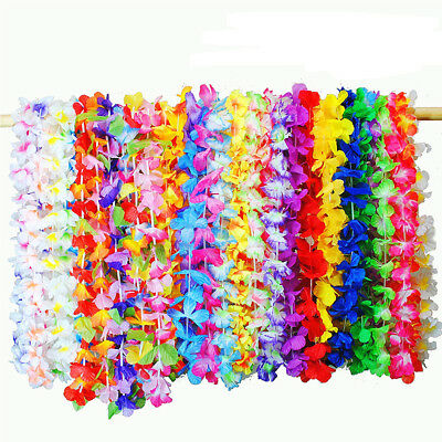 Bulk Buy Hawaiian Lei Leis Hula Aloha Hawaii Hen Stag Flower Garland Party Lot