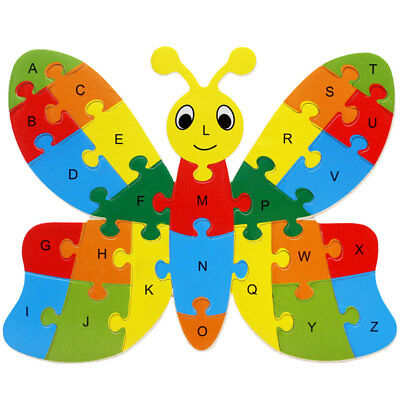 Alphabet Puzzle Educational Toys Gift - Butterfly