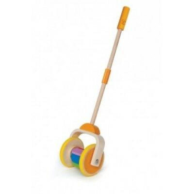 Hape Push & Pull Rainbow Kids Toddler Wooden Toy - E0344