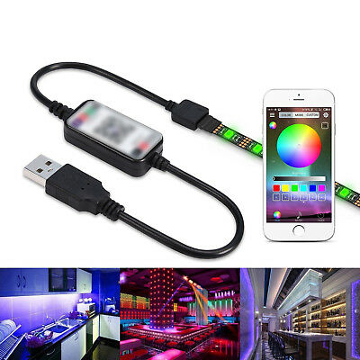 Bluetooth USB Cable Controller For RGB LED Strip Light Smart Phone App Control