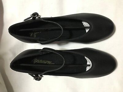 Ladies size 5.5 BLACK  LEATHER TAP DANCE SHOES (WOMENS) New Ovation  Annara