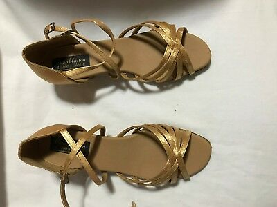 Casablanca Kids Big Girls size 2.5 FLESH SATIN  Dance Shoes Ballroom  NEW