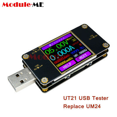 UT21 USB2.0 Color LCD Display Tester Voltage Current Power Meter Replace UM24 UK