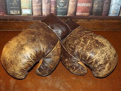Early 1900s Antique Leather Boxing Gloves