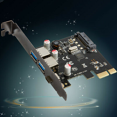 Super Speed PCI-E Express to 3 Port USB 3.0 3.1 Type A/C sata Host Card lt