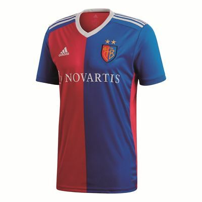Adidas Football Soccer FC Basel Mens Home Jersey Shirt 2018 2019 Blue Red