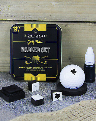 Scott and Lawson Golf Ball Marker Personalise Stamper Set