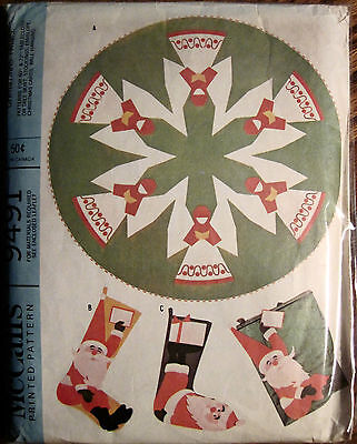 Vintage 1968 McCall's Christmas Accessories Pattern Tree Skirt Wall Hangings Etc