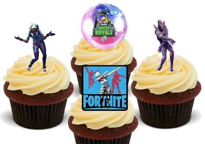 Fortnite dancing dancer mix 2 Boogie Bomb - 12 Edible Cake Toppers Decorations