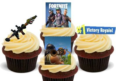 Fortnite Rocket Pack - 12 Novelty Premium Edible Cake Toppers Decorations Kids