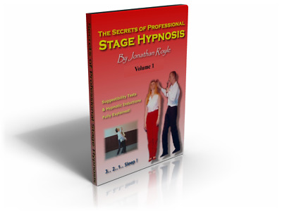 STAGE HYPNOTISM & INSTANT INDUCTIONS HYPNOTIST DVD VOL1 Comedy Hypnosis Tips