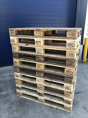 10 Heavy Duty Stamped Wooden Euro Pallet