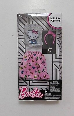 Hello Kitty Barbie Clothes Fashion Pack Complete Outfit Gray Top & Pink Skirt