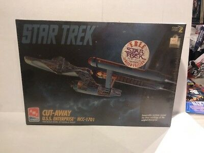 AMT ERTL Star Trek (TOS) Cut Away USS Enterprise NCC-1701  Model Kit NEW Sealed