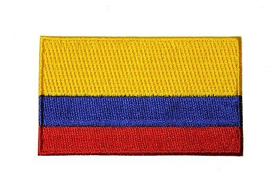 COLOMBIA Country Flag IRON-ON PATCH CREST BADGE ..SIZE : 1.5 X 2.5 Inch..New