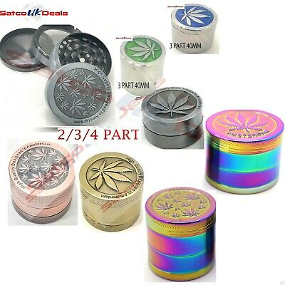 Magnetic Shark Teeth Smoking Grinder Herb Tobacco Spice Uk New 2/3/4 Part New