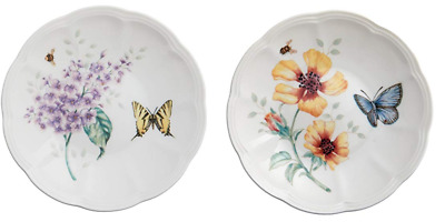 """Lenox Butterfly Meadow Party Plates Set of 2 / 6"""""""
