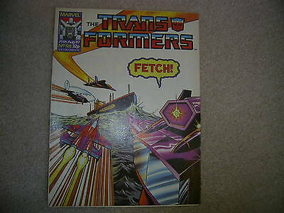 The TRANSFORMERS Comic - No 128, Aug 29th 1987 Marvel comics