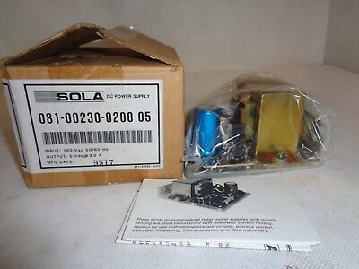 New Sola Dc Power Supply 081-00230-0200-05