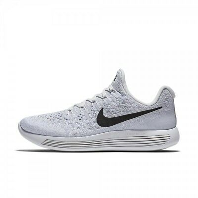 half off 9d828 4038c New Nike Womens Lunarepic Low Flyknit 2 White Black Running Shoes sz 8