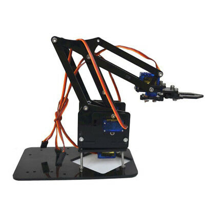 Black 4 Dof Mechanical Robot Robotic Arm Clamp Claw Mount Kit for Arduino